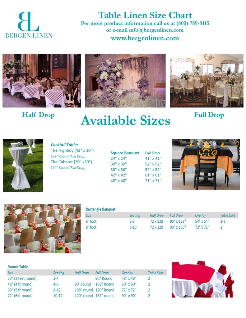 table linen sizes