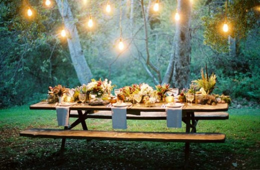 Outdoor dinner party, outdoor dining