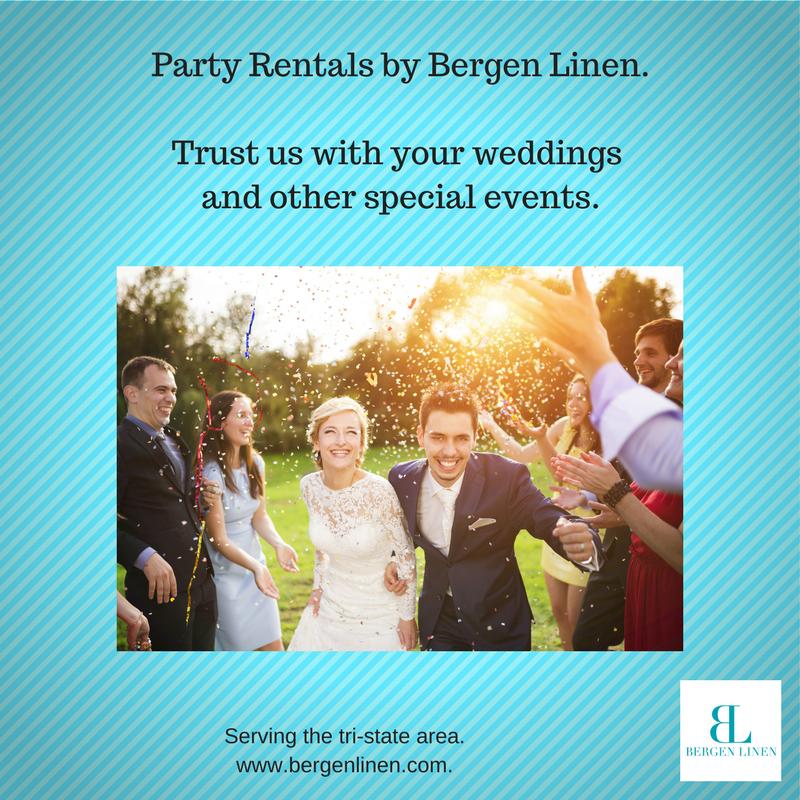 party rentals, party linen rentals, party rental company