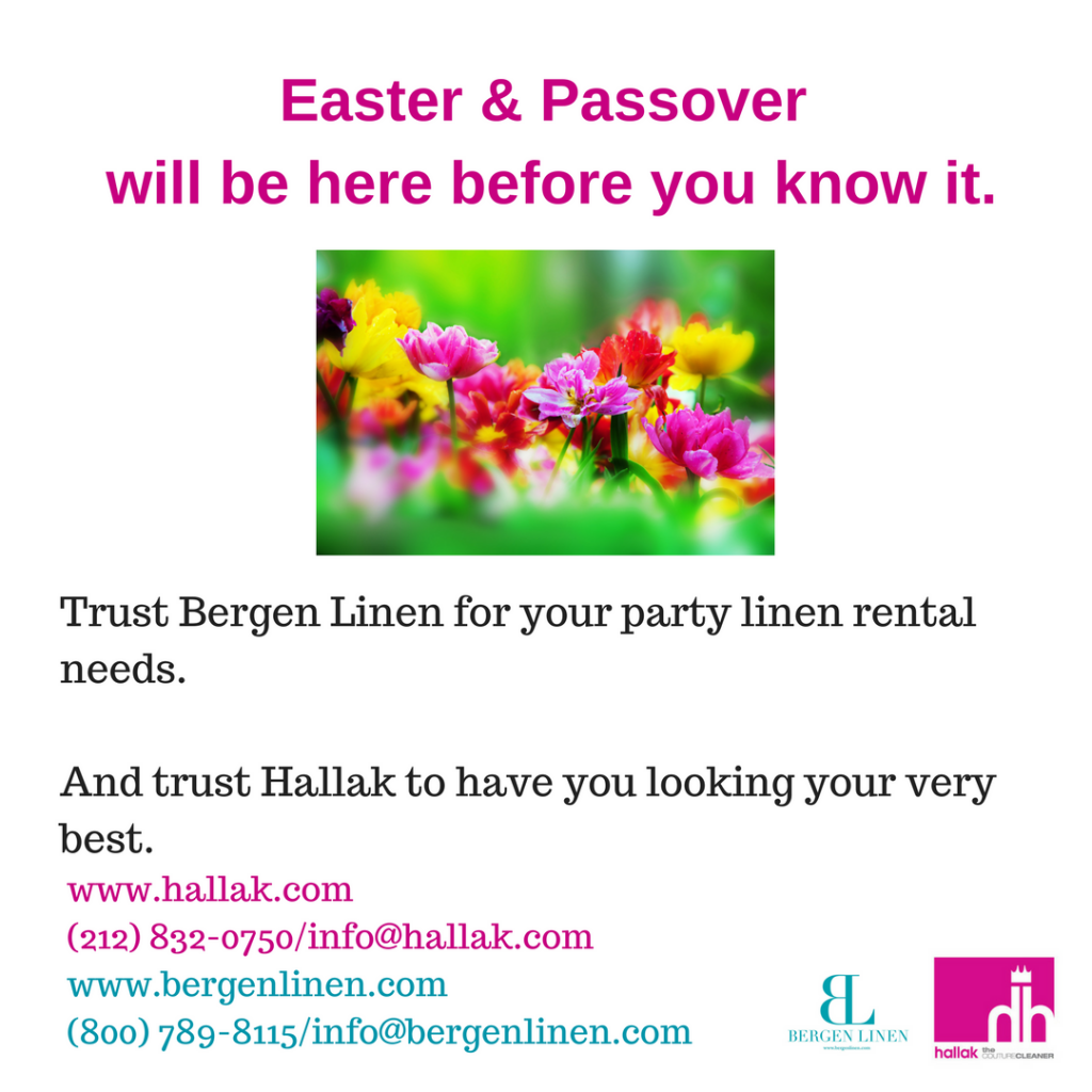 Spring Holidays Party Linen Rental