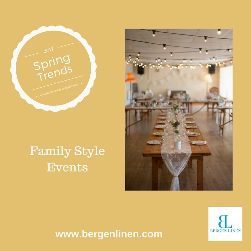 Family Style Dinner trends , family style, dinner trend, spring trend, event trend