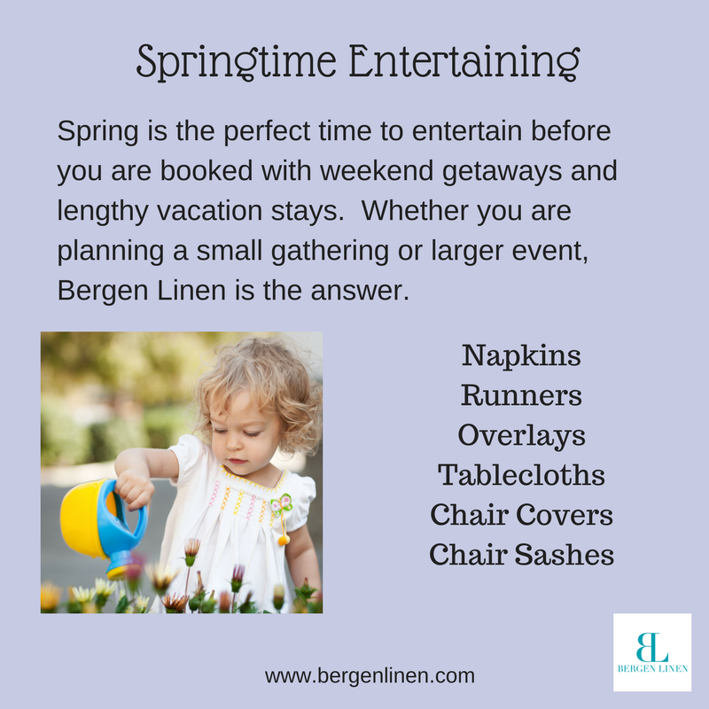 Entertaining in the spring