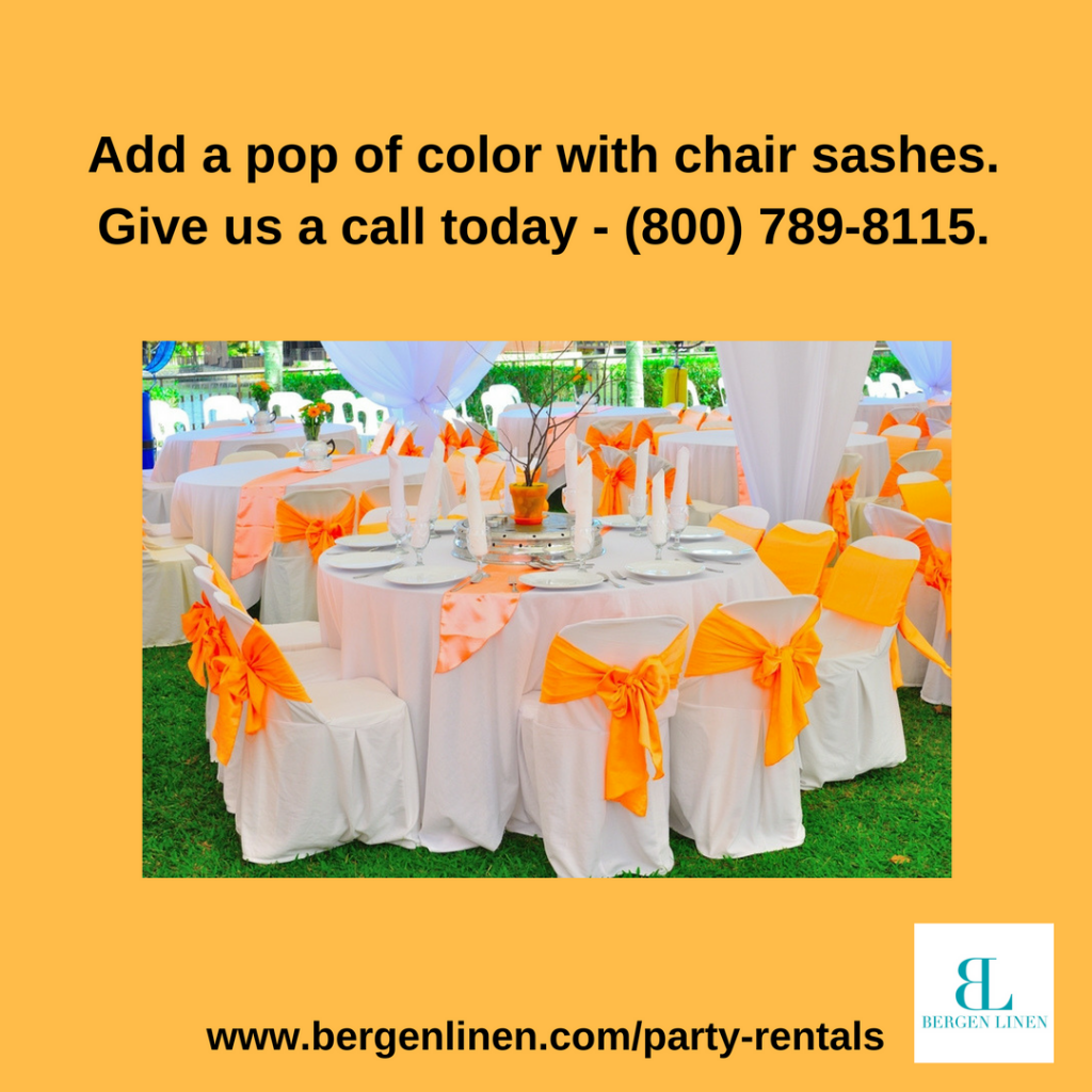 Chair Sash rental, linen rental