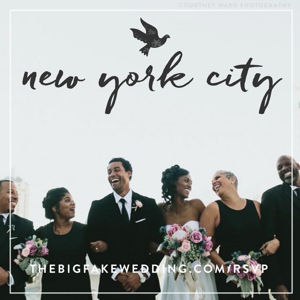 Big fake wedding, wedding event, wedding fun, new york wedding,