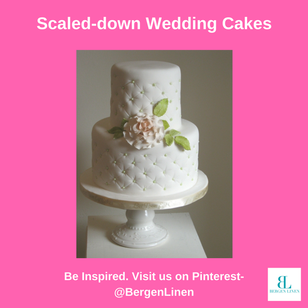 small wedding cake, small wedding cake trend, cake trend, wedding trends