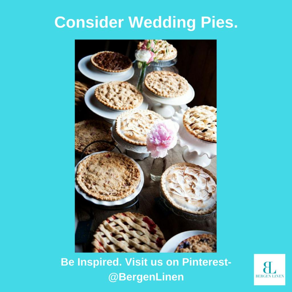 seasonal dessert, pie, fall pie, fall wedding, fall dessert