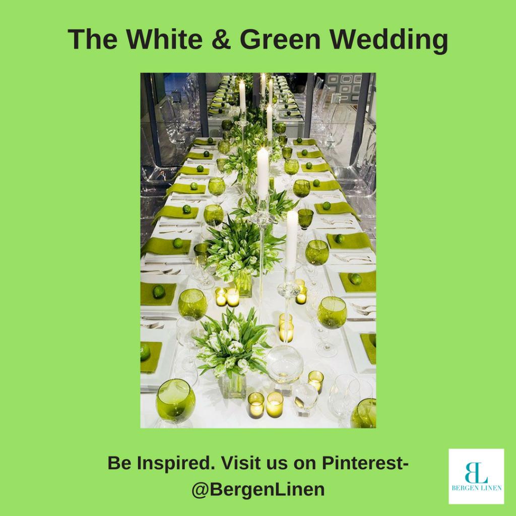 Wedding Trends , White wedding, green wedding, weddings 2017