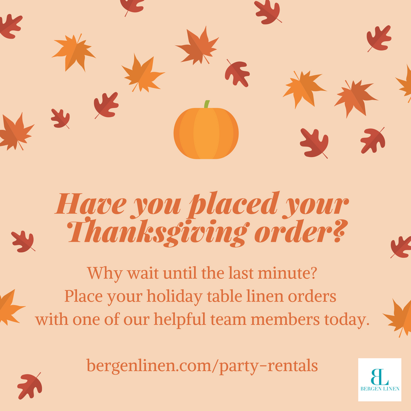 thanksgiving, thanksgiving party, party linen rental, party rentals