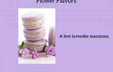 Flowers, flower-flavored, lavender