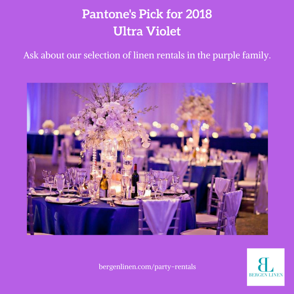 Ultra Violet, purple, purple table linen, purple table, purple party, ultra violet party