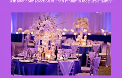 Ultra Violet, purple, purple table linen, purple table, purple party