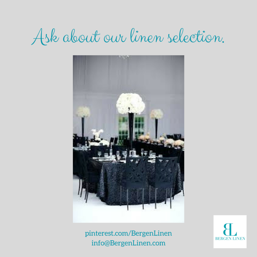 Pretty table linen setting in black.