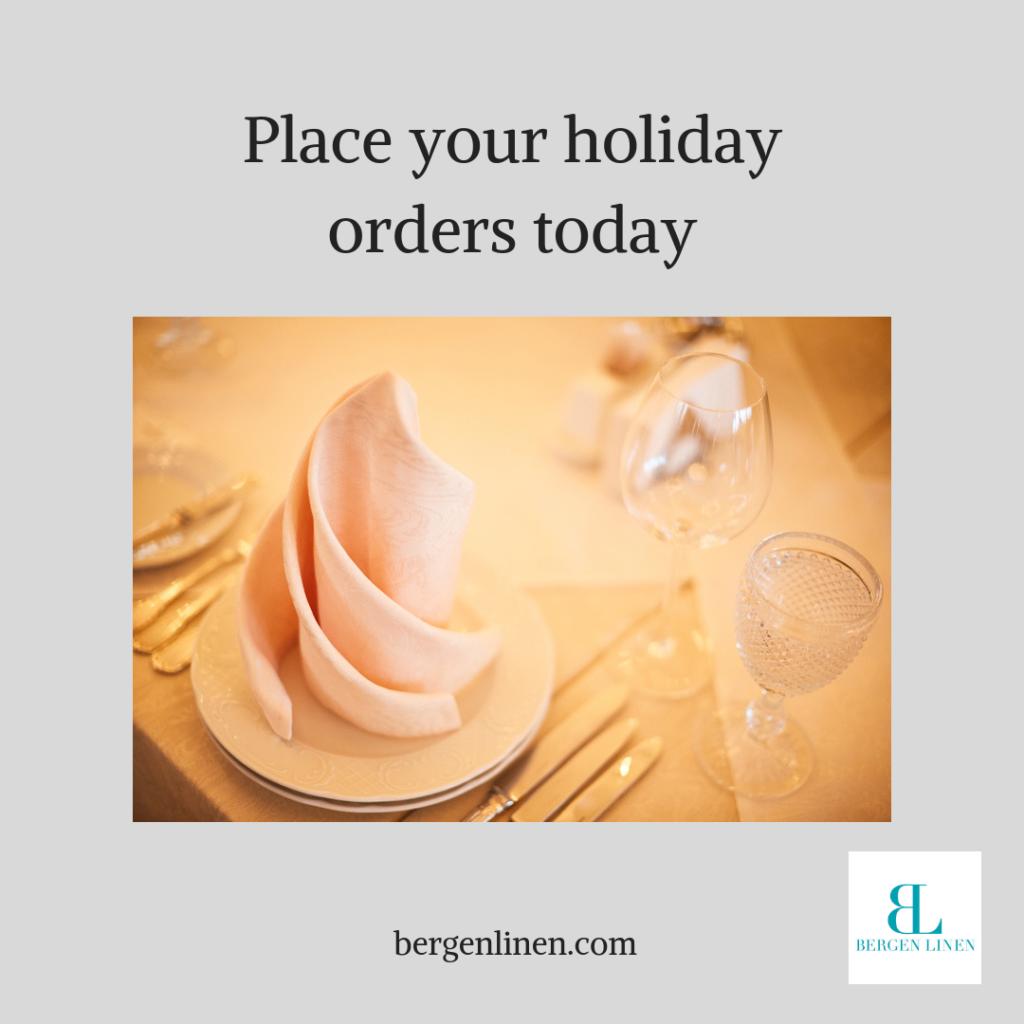 2018 holiday season. holiday season, holiday linen, linen rental, linen company, party linen, party rental